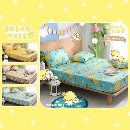 【BREAD TREE】麵包樹純棉雙人床包+枕套三件組-檸檬派對(多款任選)