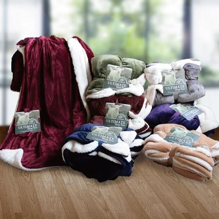 雪尼爾羊羔絨雙面多用途毯-多款任選
