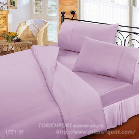 【Victoria】純棉機能單人床包組-紫色