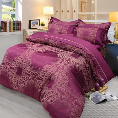 【Victoria】緹花加大七件式床罩組-迷情