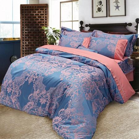 【Indian】維爾斯 雙人七件式緹花床罩組