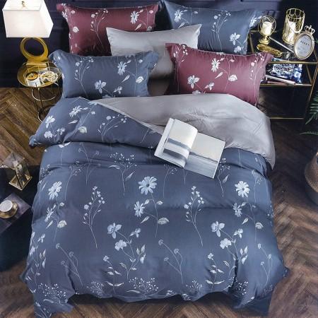 【Indian】新科技天絲吸濕排汗雙人兩用被床包四件組-夢之蘭灰藍(台灣製)