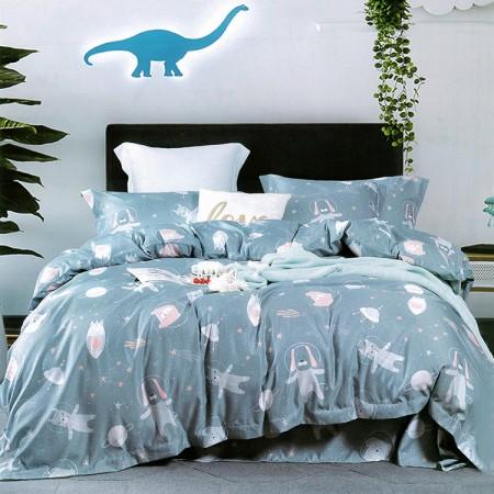 【Indian】新科技天絲吸濕排汗雙人特大兩用被床包四件組-星夢語