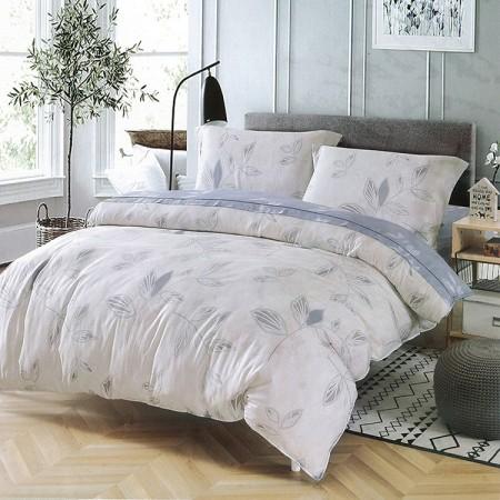 【Indian】新科技天絲吸濕排汗雙人加大兩用被床包四件組-木葉蝶