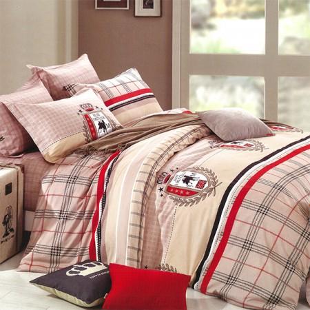 【Indian】純棉雙人床包兩用被組--芭伯瑞騎士