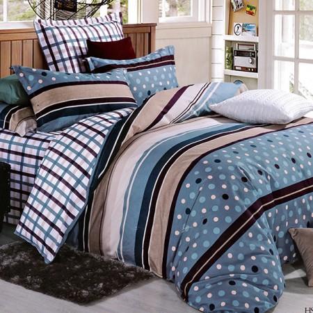 【Victoria】純棉雙人床包兩用被組--時尚生活