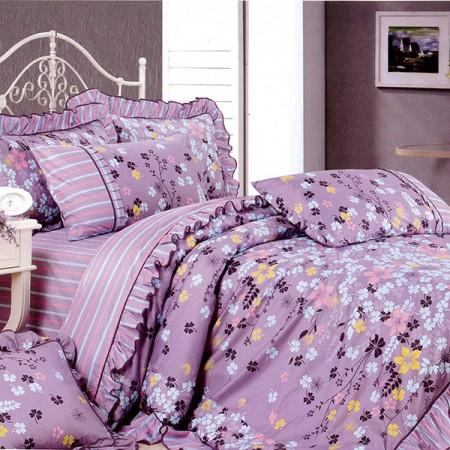 【Victoria】純棉雙人床包兩用被組--花語