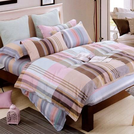 【Indian】布拉格 雙人四件式純綿兩用被床包組