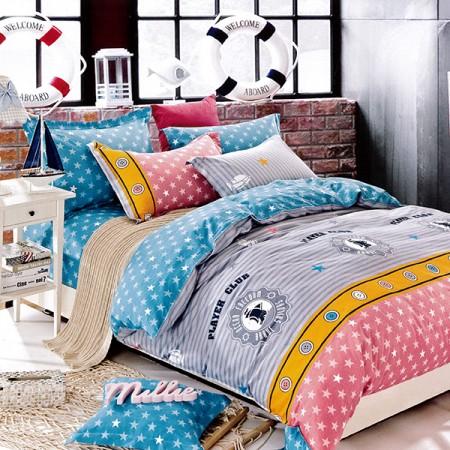【Indian】半夏時光 雙人四件式純綿兩用被床包組