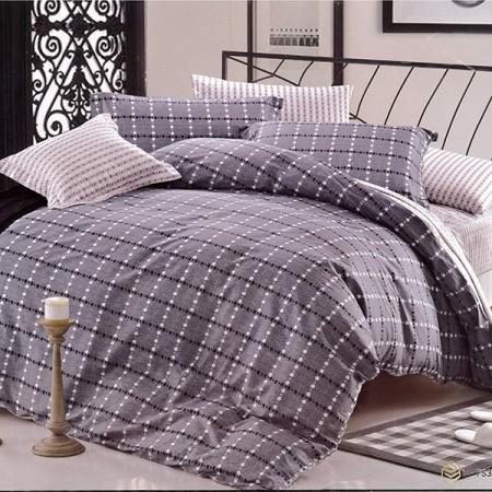 【Indian】純棉單人床包兩用被組--格雷諾