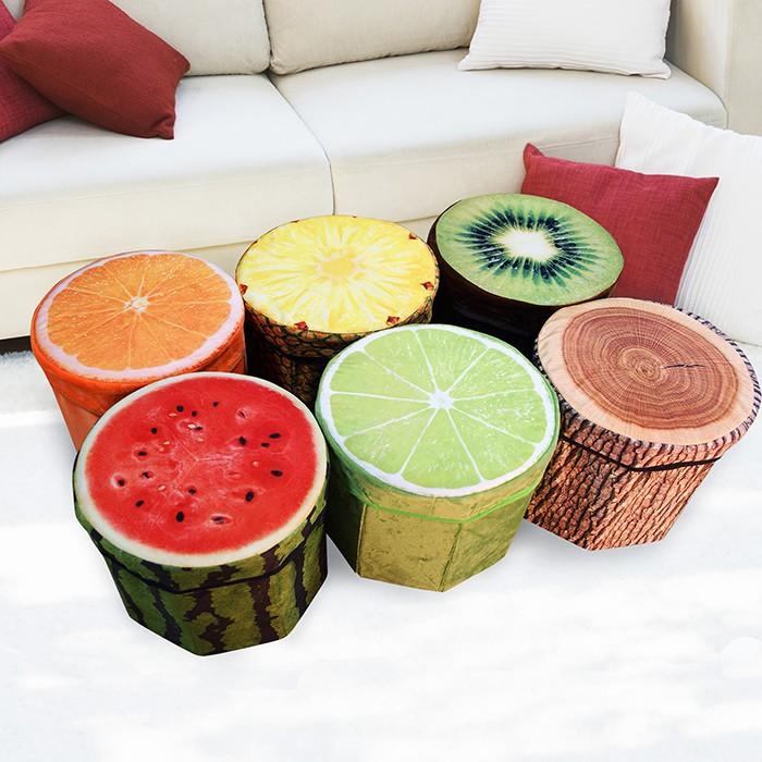 水果創意收納凳-多款任選