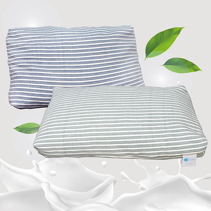 可拆式顆粒碎乳膠枕(2顆)(藍綠兩色可選)