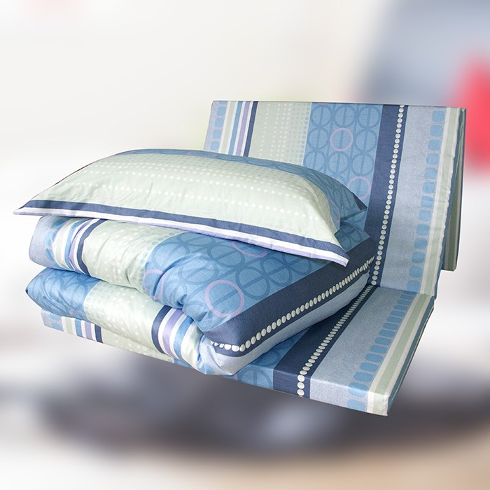 純棉六件式貴族記憶床墊組(花色隨機出貨)