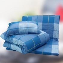 七件式純棉亞藤床墊被枕組(花色隨機出貨)