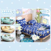 【BREAD TREE】麵包樹純棉雙人床包+枕套三件組-Good Night(多款任選)