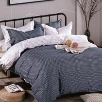 【Victoria】柔絲絨加大四件式印花兩用被床包組- 簡約