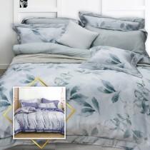 【FITNESS】100%純天絲頂級60S雙人加大七件式床罩組-2款任選
