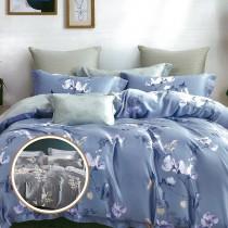 【FITNESS】100%純天絲頂級60S雙人七件式床罩組-2款任選