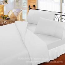【Victoria】純棉機能雙人床包組-白色