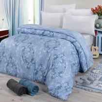 【FITNESS】精梳棉雙人鋪棉兩用被套-律彌爾(藍)