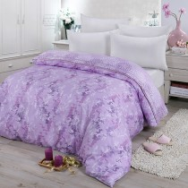 【FITNESS】精梳棉雙人鋪棉兩用被套-律彌爾(紫)