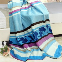 【Victoria】水貂絨多功能毯-天空藍(藍色)