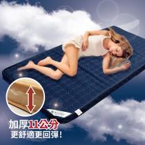 【Victoria】高密度記憶棉床墊-雙人(藍色)