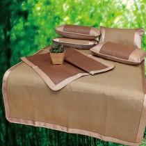 【Victoria】雙人藤蓆 / 涼蓆 / 野餐蓆 (加贈枕套2個)-花色隨機出貨