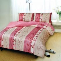 【Victoria】加大四件式純棉被套床包組 - 飄花粉