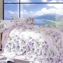 【Victoria】100%純天絲雙人加大兩用被床包四件組- 臻愛