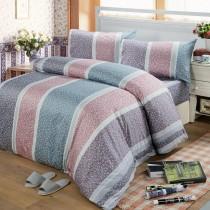 【Victoria】單人三件式純棉被套床包組-繁花