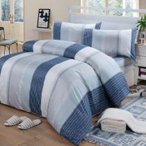 【Victoria】單人三件式純棉被套床包組-格調