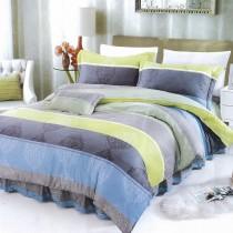 【Victoria】新科技天絲抗菌吸濕排汗五件式雙人床罩組-簡約