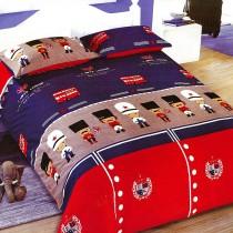 【Victoria】法蘭絨鋪棉加大床包四件組-童話