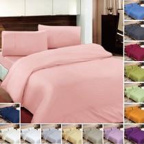 【FITNESS】純棉素雅雙人床包枕套組(內束高35公分)-台灣生產製造