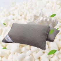 【FITNESS】麂皮顆粒乳膠QQ透氣枕