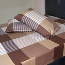 【Victoria】純棉雙人床包+枕套三件組 - 典藏