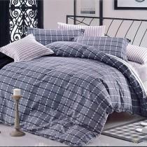 【Indian】純棉雙人加大四件式兩用被床包組--格雷諾