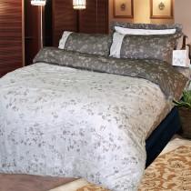 【FITNESS】精梳純棉加大床包+枕套三件組- 夕川織影(咖)