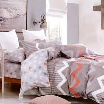 【Indian】 雙人四件式純綿兩用被床包組-萊茵河畔