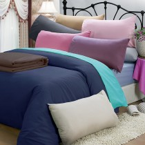 【皮斯佐丹】玩色彩直條紋雙人床包被套枕套四件組(多款顏色任選)