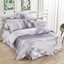 【FITNESS】100%純天絲頂級60S特大七件式床罩組-魅斑
