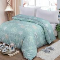 【FITNESS】精梳棉雙人鋪棉兩用被套-海蒂(綠)