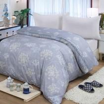 【FITNESS】精梳棉雙人鋪棉兩用被套-海蒂(灰紫)