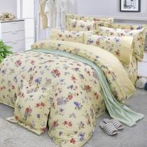 【FITNESS】精梳棉雙人七件式床罩組-穠芳(黃)