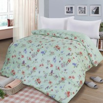 【FITNESS】精梳棉雙人鋪棉兩用被套-穠芳(綠)