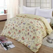 【FITNESS】精梳棉雙人鋪棉兩用被套-穠芳(黃)