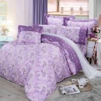 【FITNESS】精梳棉雙人七件式床罩組-蒲花戀曲(紫)