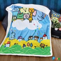 【P714星球】水晶羊羔絨雙面攜帶毯-品牌聯名獨家合作
