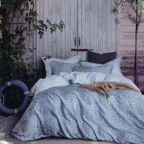 【Indian】雙人100%天絲七件式床罩組-雅白